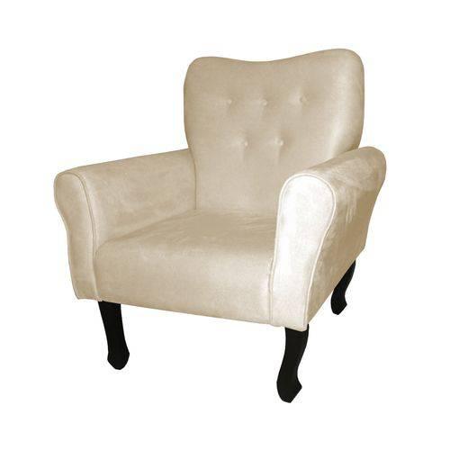 Poltrona Cadeira Nanda para Escritório e Sala Recepção Corino Bege
