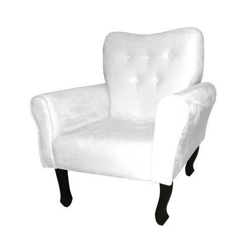 Poltrona Cadeira Nanda para Escritório e Sala Recepção Corino Branco