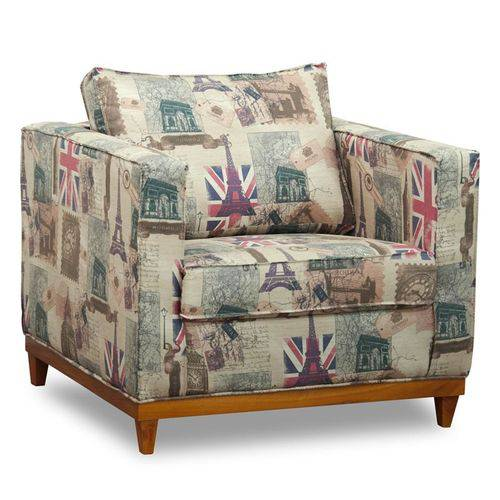 Poltrona Decorativa Aspen Linho London - D'monegatto