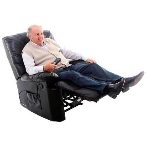 Poltrona do Papai Massageadora Relaxmedic - com 8 Motores Cor Preta - Bivolt - Rm-PM2121A B Bivolt