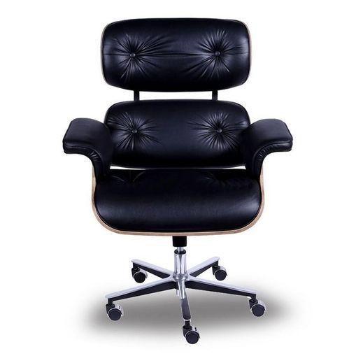 Poltrona Executiva Eames Office Preta ÓR Design