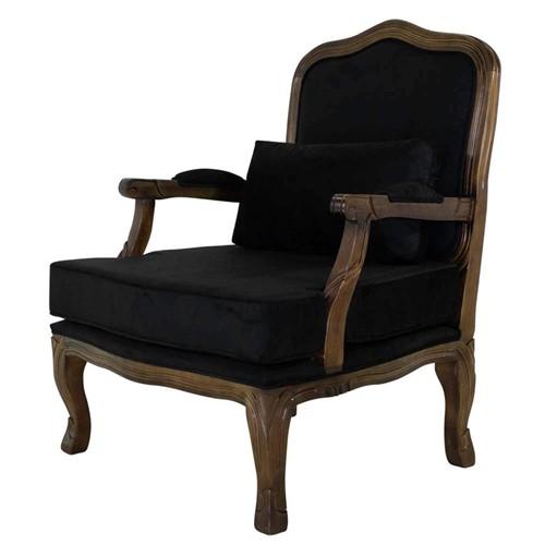 Poltrona King Imbuia Envelhecido - Wood Prime 32533 Liso