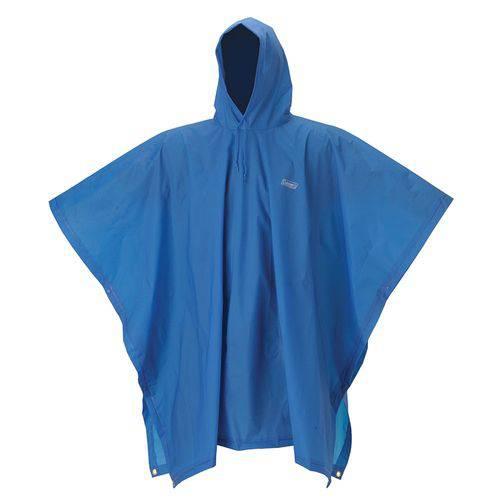 Poncho Juvenil Coleman Capa de Chuva 15mm Azul 100% Impermeável