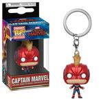 Pop Funko Keychain - Captain Marvel W/helmet