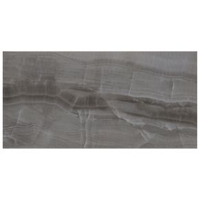 "Porcelanato ""A"" 59x118,2 Onix Preto Polido Eliane"