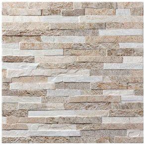 "Porcelanato ""A"" 59X59 Stone Patch Natural Acetinado Eliane"
