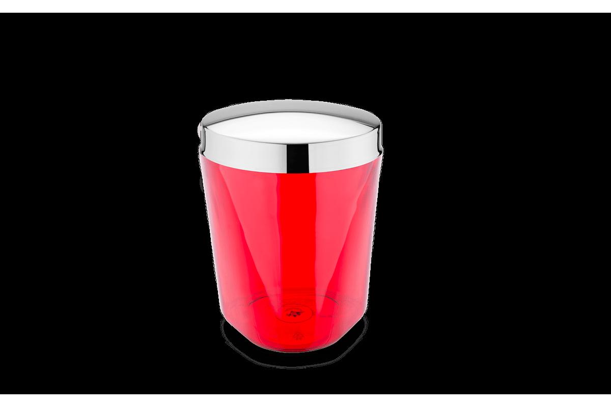 Porta Algodão - Atria Ø 10 X 13 Cm Vermelho Brinox