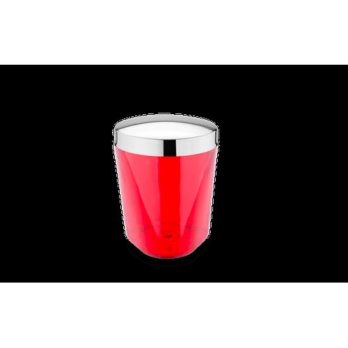 Porta Algodão - Atria Ø 10 X 13 Cm Vermelho