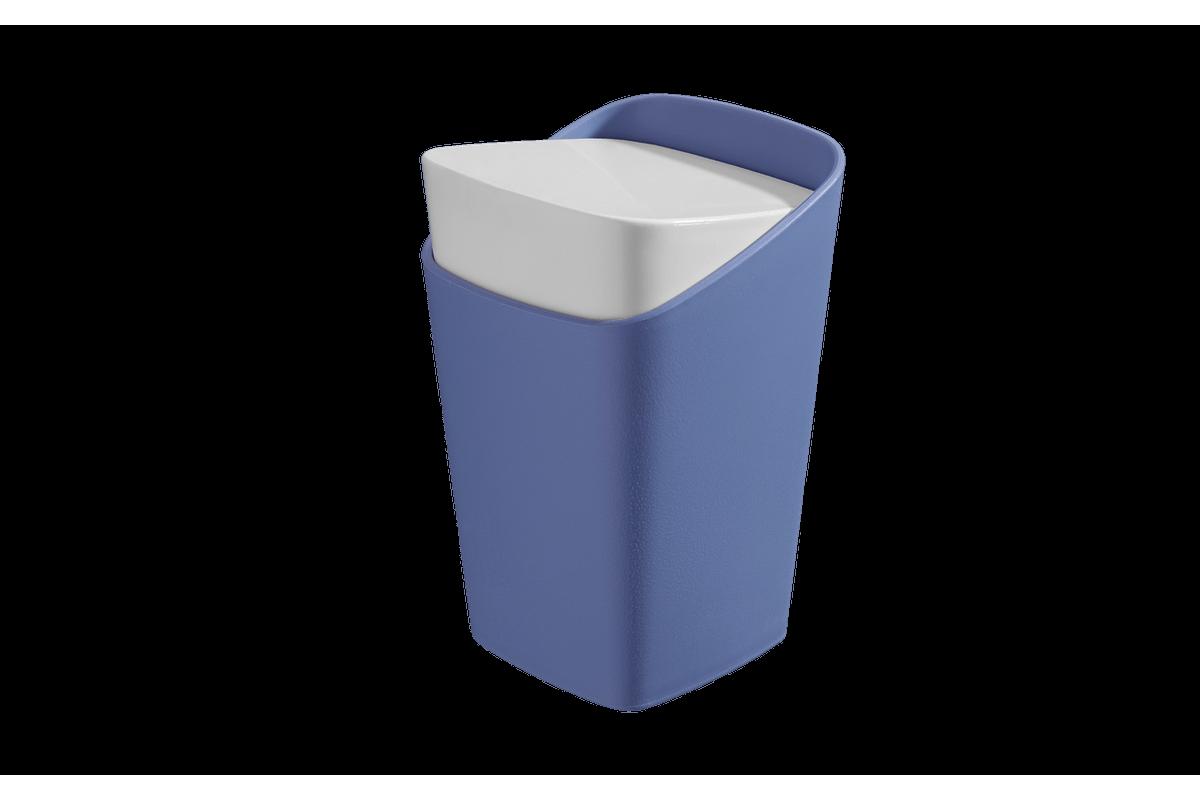 Porta-Algodão - Square 8,2 X 8,2 X 12,3 Cm Azul Coza