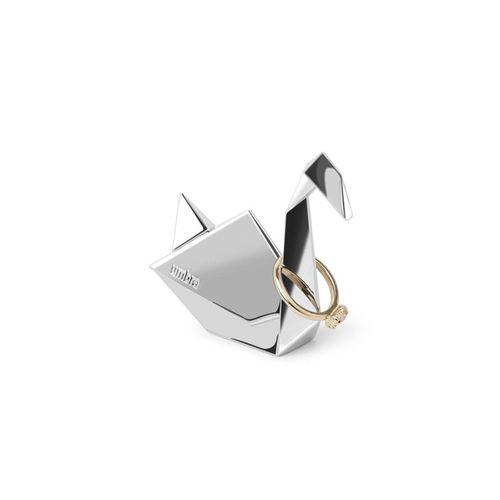 Porta-aneis Umbra Cisne Origami Cromado