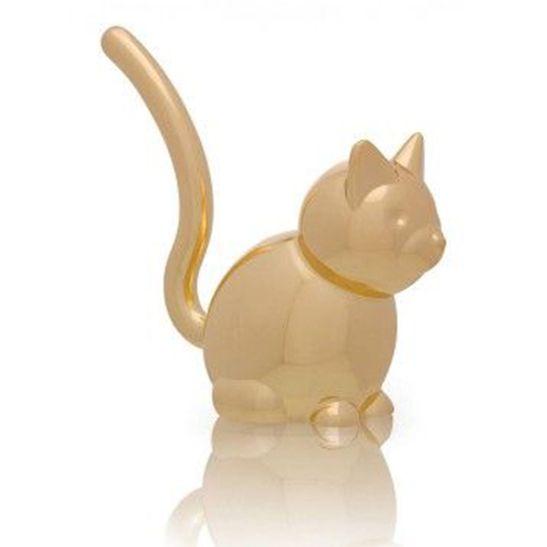 Porta Anel Zoola Gato Dourado Umbra