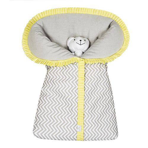 Porta Bebê Chevron Amarelo 100% Algodão
