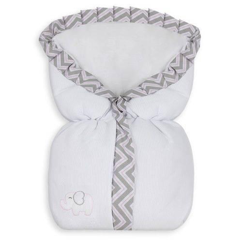 Porta Bebê Elefante Chevron Rosa