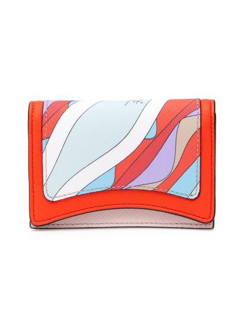 Porta Cartão Celeste Estampado Laranja