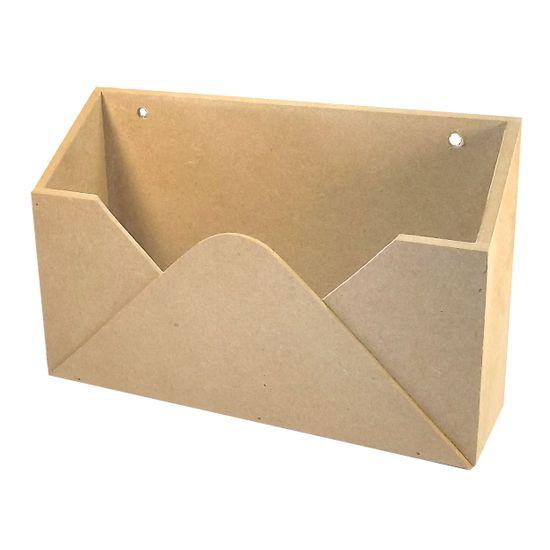 Porta Cartas Envelope em MDF 24,5x14,8x7cm - Palácio da Arte