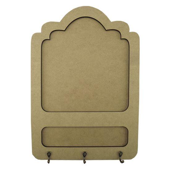 Porta Chaves e Recados em MDF 35x24,5 3 Ganchos Nuvem - Palácio da Arte