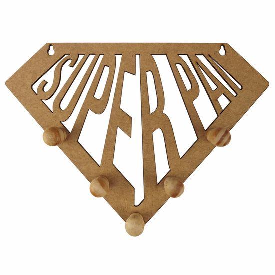 Porta Chaves em MDF 13X18cm Super Pai - Palácio da Arte