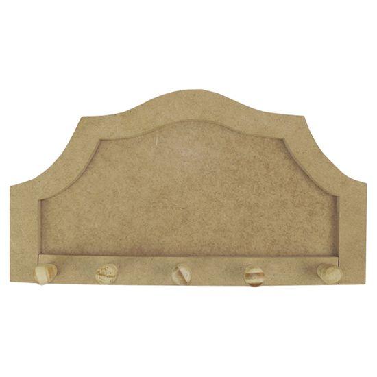 Porta Chaves em MDF 25,5x14 Trabalhado 5 Pitões - Palácio da Arte