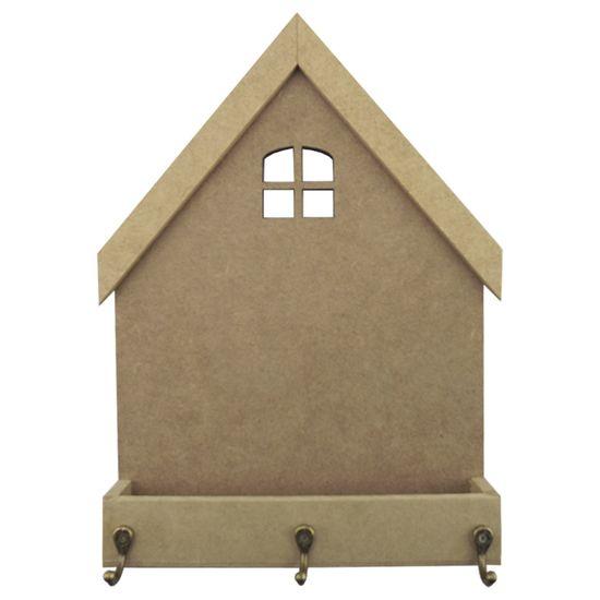 Porta Chaves em MDF 27x20,5cm Casa Floreira 3 Ganchos - Palácio da Arte