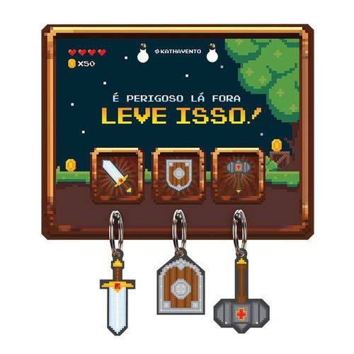 Porta-chaves Video Game Retrô - Kathavento