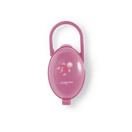 Porta Chupeta Rosa - Multikids Baby