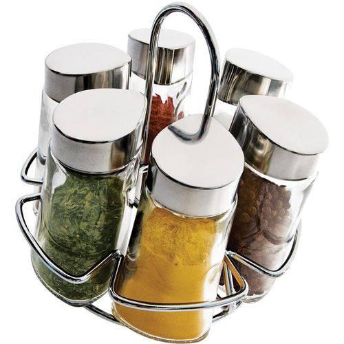Porta-condimentos 6 Peças - Euro Home - Transparente