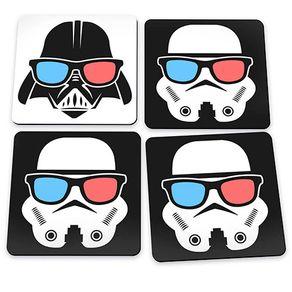Porta Copos Darth Vader Stormtroopers Star Wars - 4 Peças