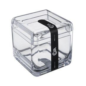 Porta Cotonetes Cube Cristal 20879/0009 Coza
