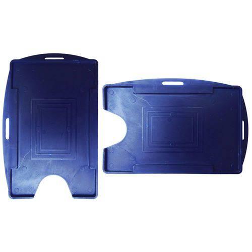 Porta Crachá Azul Marinho Sólido Universal Marpax 100un