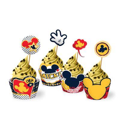 Porta Cupcake Mickey Mouse 12un Disney Regina