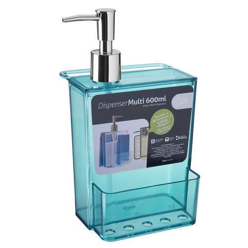 Porta Detergente e Esponja 600Ml Verde - Coza