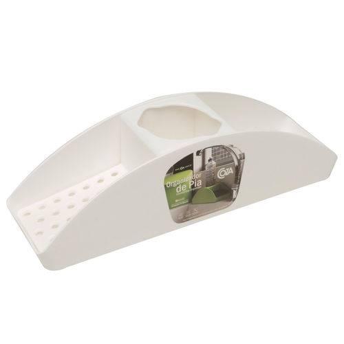 Porta Detergente e Esponja Branco - Coza