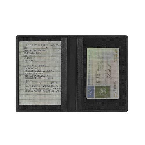 Porta Documento em Couro Preto