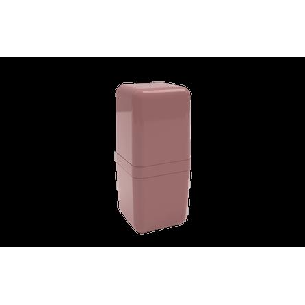Porta-escova com Tampa Cube - RSM 8,5 X 8,5 X 19,5 Cm Rosa Malva Coza