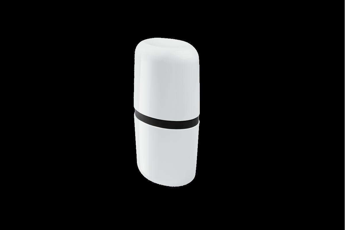 Porta-escova com Tampa Full - PT 10,6 X 7,7 X 21 Cm Preto Coza