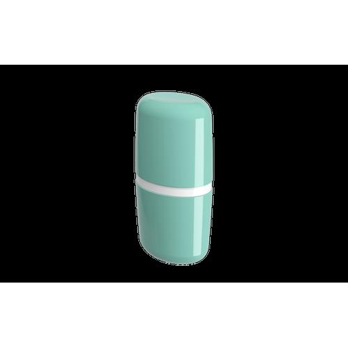 Porta-escova com Tampa Full - VDE 10,6 X 7,7 X 21 Cm Verde Elétrico Coza