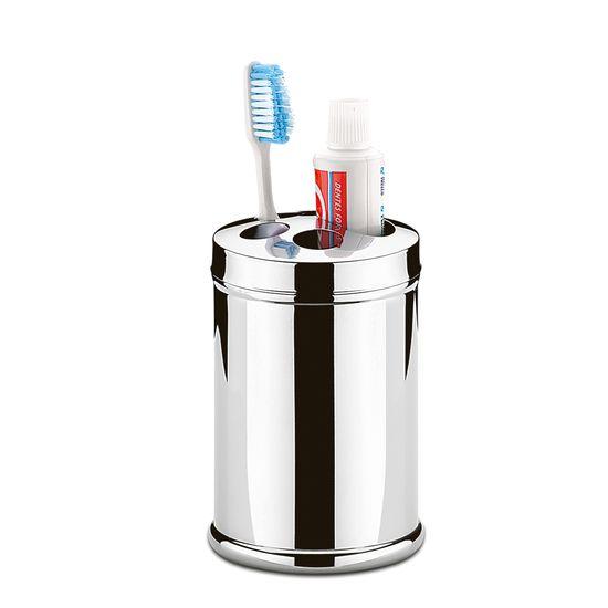 Porta Escova Creme Dental Inox