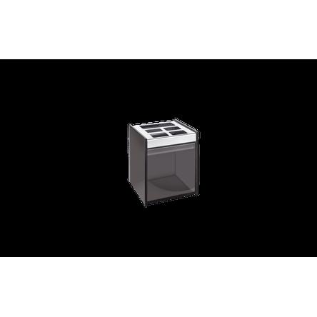 Porta Escova/Creme Dental - Quadrata 8 X 11,5 Cm Fumê Brinox