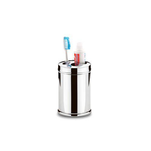 Porta Escova e Creme Dental em Inox 8,5 X 13cm Marca Brinox