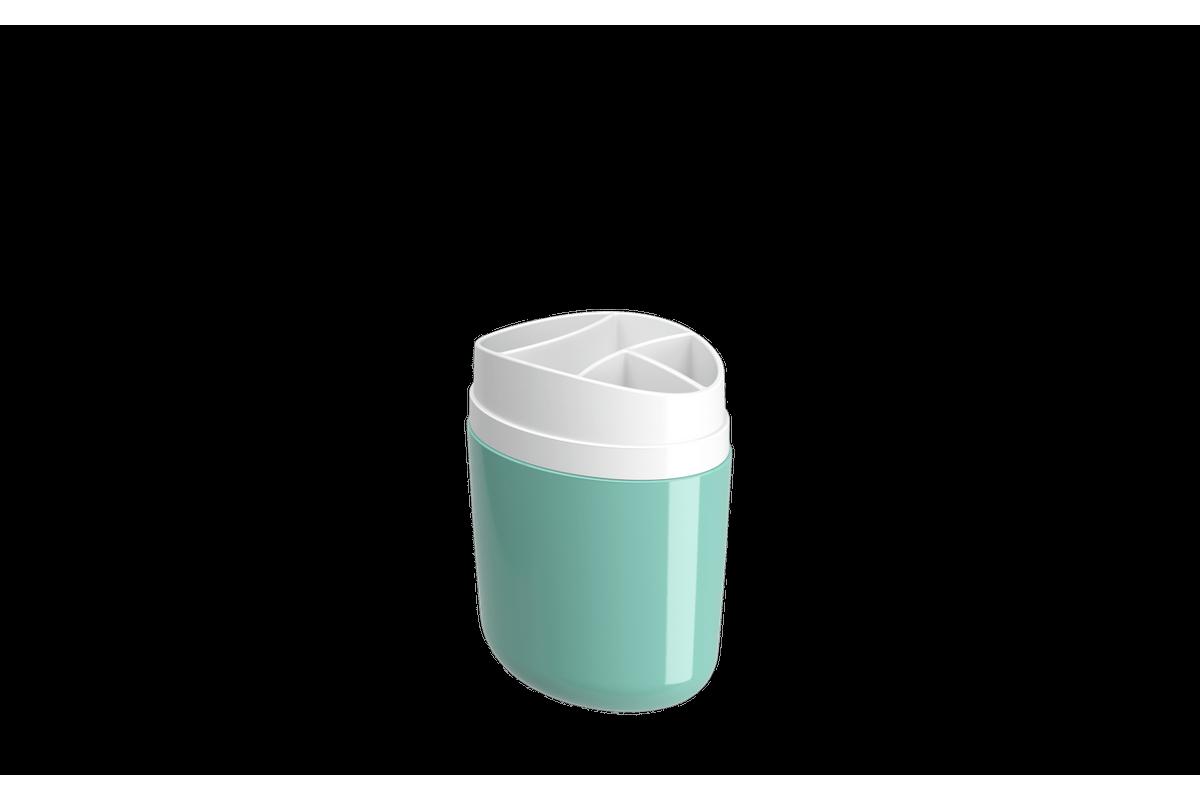 Porta-escova Full - VDE 10,6 X 7,7 X 15,4 Cm Verde Elétrico Coza