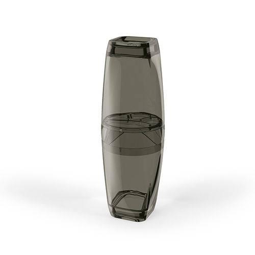 Porta Escova Premium Translucido Preto