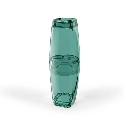 Porta Escova Premium Translucido Verde