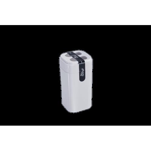 Porta-Escova - Splash 6,5 X 6,5 X 12,7 Cm Branco Coza