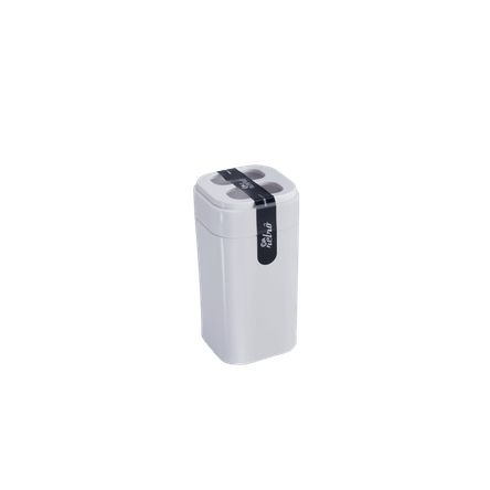 Porta-escova Splash - BC 6,5 X 6,5 X 12,7 Cm Branco Coza