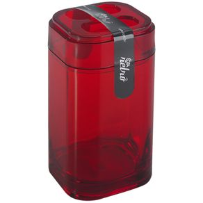 Porta Escova Splash Vermelho 20452/0111 Coza