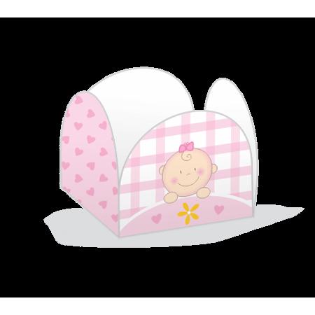 Porta Forminha P/ Doces Baby Menina Porta Forminha para Doces Baby Menina - 50 Unidades