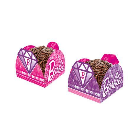 Porta Forminha para Doces Barbie Diamante