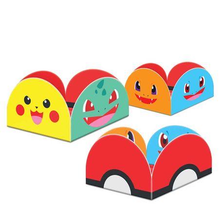 Porta Forminha para Doces Pokemon - 50 Unidades
