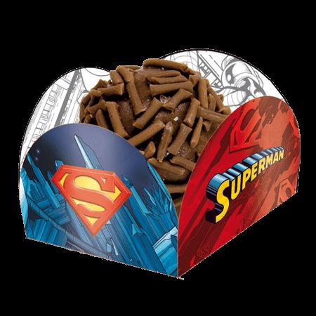 Porta Forminha para Doces Super Homem - 40 Unidades