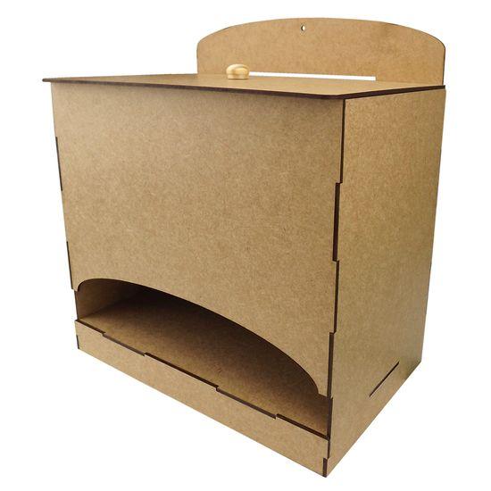 Porta Fraldas em MDF de Encaixe Lisa 24,5x16x21cm - Palácio da Arte